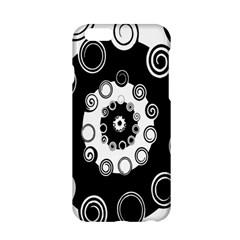 Fluctuation Hole Black White Circle Apple Iphone 6/6s Hardshell Case by Alisyart