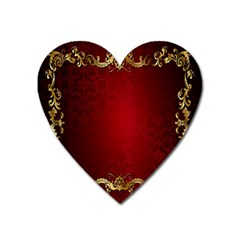 3d Red Abstract Pattern Heart Magnet by Simbadda