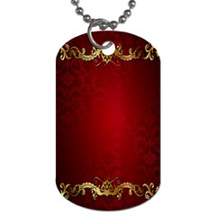 3d Red Abstract Pattern Dog Tag (two Sides) by Simbadda