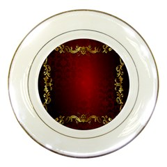 3d Red Abstract Pattern Porcelain Plates by Simbadda