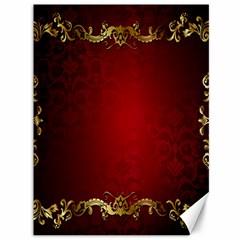 3d Red Abstract Pattern Canvas 36  X 48   by Simbadda