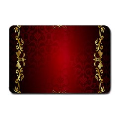 3d Red Abstract Pattern Small Doormat  by Simbadda
