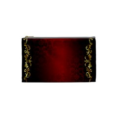3d Red Abstract Pattern Cosmetic Bag (small)  by Simbadda