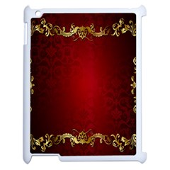 3d Red Abstract Pattern Apple Ipad 2 Case (white) by Simbadda