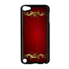 3d Red Abstract Pattern Apple Ipod Touch 5 Case (black) by Simbadda
