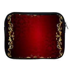 3d Red Abstract Pattern Apple Ipad 2/3/4 Zipper Cases by Simbadda