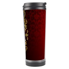 3d Red Abstract Pattern Travel Tumbler by Simbadda