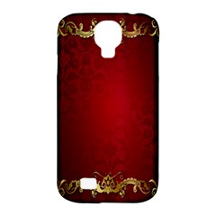 3d Red Abstract Pattern Samsung Galaxy S4 Classic Hardshell Case (pc+silicone) by Simbadda