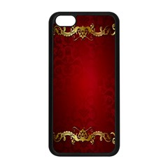 3d Red Abstract Pattern Apple Iphone 5c Seamless Case (black) by Simbadda