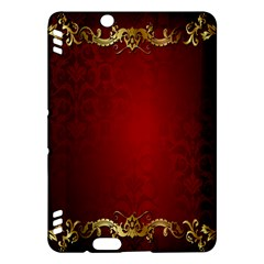 3d Red Abstract Pattern Kindle Fire HDX Hardshell Case