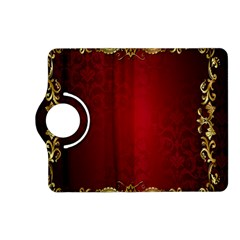 3d Red Abstract Pattern Kindle Fire Hd (2013) Flip 360 Case by Simbadda