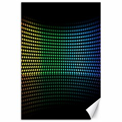 Abstract Multicolor Rainbows Circles Canvas 20  X 30   by Simbadda