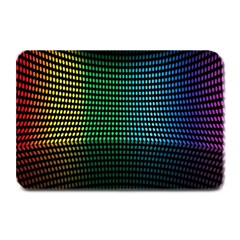 Abstract Multicolor Rainbows Circles Plate Mats by Simbadda