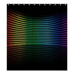 Abstract Multicolor Rainbows Circles Shower Curtain 66  X 72  (large)  by Simbadda