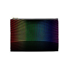 Abstract Multicolor Rainbows Circles Cosmetic Bag (medium)  by Simbadda