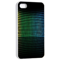 Abstract Multicolor Rainbows Circles Apple Iphone 4/4s Seamless Case (white) by Simbadda