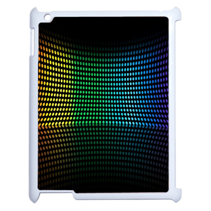 Abstract Multicolor Rainbows Circles Apple iPad 2 Case (White)