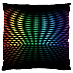 Abstract Multicolor Rainbows Circles Large Cushion Case (one Side) by Simbadda