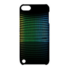 Abstract Multicolor Rainbows Circles Apple Ipod Touch 5 Hardshell Case With Stand by Simbadda
