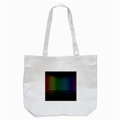 Abstract Multicolor Rainbows Circles Tote Bag (white) by Simbadda