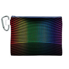 Abstract Multicolor Rainbows Circles Canvas Cosmetic Bag (xl) by Simbadda