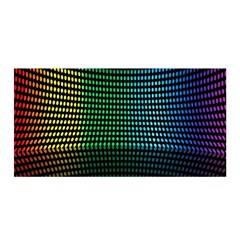 Abstract Multicolor Rainbows Circles Satin Wrap by Simbadda