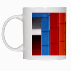 Abstract Minimalism Architecture White Mugs by Simbadda