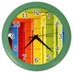 Abstract Minimalism Architecture Color Wall Clocks Front