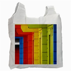 Abstract Minimalism Architecture Recycle Bag (two Side)  by Simbadda