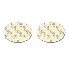 Flower Floral Pink Cufflinks (oval) by Alisyart