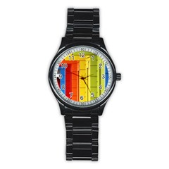 Abstract Minimalism Architecture Stainless Steel Round Watch by Simbadda