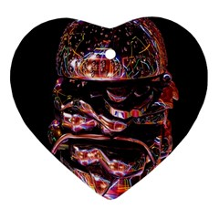 Hamburgers Digital Art Colorful Heart Ornament (two Sides) by Simbadda