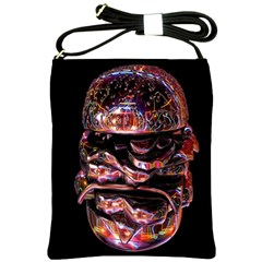 Hamburgers Digital Art Colorful Shoulder Sling Bags by Simbadda