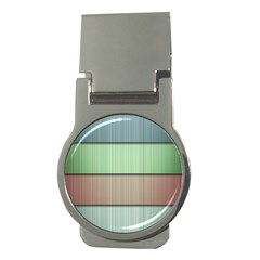Lines Stripes Texture Colorful Money Clips (round)  by Simbadda
