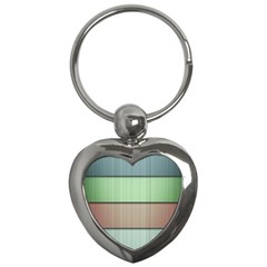 Lines Stripes Texture Colorful Key Chains (heart)  by Simbadda