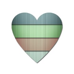 Lines Stripes Texture Colorful Heart Magnet by Simbadda