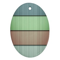 Lines Stripes Texture Colorful Oval Ornament (two Sides) by Simbadda
