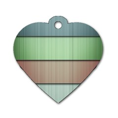Lines Stripes Texture Colorful Dog Tag Heart (one Side) by Simbadda
