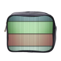 Lines Stripes Texture Colorful Mini Toiletries Bag 2 Side by Simbadda