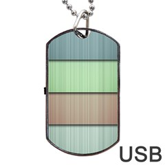 Lines Stripes Texture Colorful Dog Tag Usb Flash (one Side)