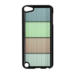 Lines Stripes Texture Colorful Apple Ipod Touch 5 Case (black)
