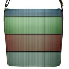 Lines Stripes Texture Colorful Flap Messenger Bag (s) by Simbadda