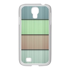 Lines Stripes Texture Colorful Samsung Galaxy S4 I9500/ I9505 Case (white) by Simbadda