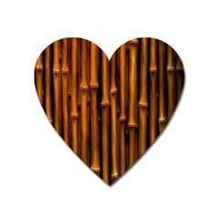 Abstract Bamboo Heart Magnet by Simbadda