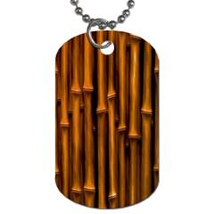Abstract Bamboo Dog Tag (two Sides) by Simbadda