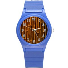 Abstract Bamboo Round Plastic Sport Watch (s) by Simbadda