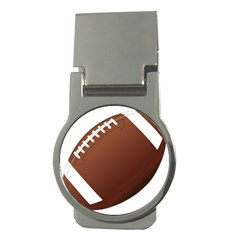 Football American Sport Ball Money Clips (round)  by Alisyart