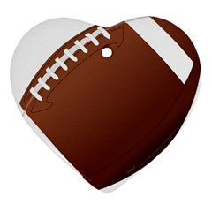 Football American Sport Ball Heart Ornament (two Sides) by Alisyart