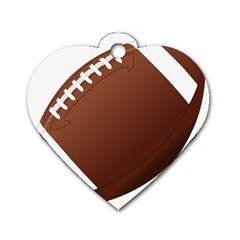 Football American Sport Ball Dog Tag Heart (one Side) by Alisyart