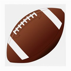 Football American Sport Ball Medium Glasses Cloth by Alisyart